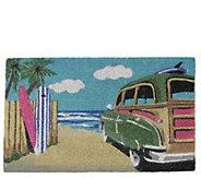 Northlight Multicolor Car on Beach Door Mat - H293633