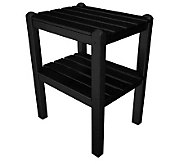 POLYWOOD Two-Shelf Side Table - H349833