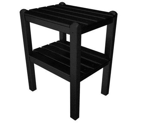 POLYWOOD Two Shelf Side Table