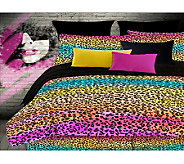 Veratex Rainbow Leopard Twin Comforter Set - H351533