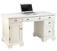 Home Styles Naples Pedestal Desk - White Finish - H360333
