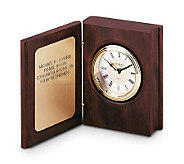Things Remembered Personalized Mahogany Book Clock - H120434