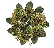 18 Artichoke Wreath by Nearly Natural - H179234