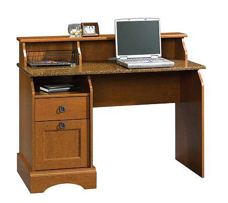 Sauder Graham Hill Collection Desk - Autumn Maple Finish