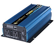12 Volt DC to AC 1100 Watt Power Inverter - H182734