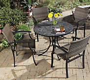 Home Styles Stone Harbor Outdoor Dining Table with 4 Armchair - H187334