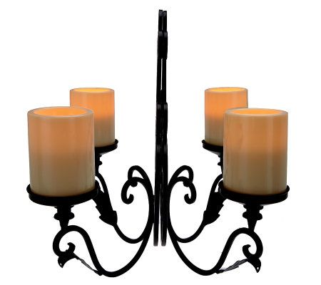 Wall Sconce With Led Timer Candle : Qvc Flameless Sconces Homes Decoration Tips