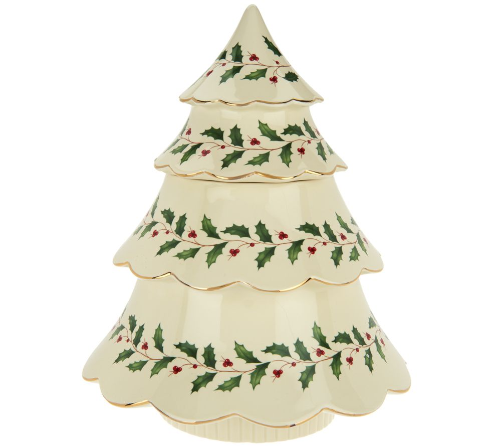 Lenox Holiday Archive Figural Tree Cookie Jar - Page 1 — QVC.com