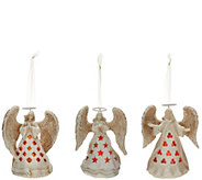 Set of 3 Illuminated Angel Ornaments by Home Reflections - H206034