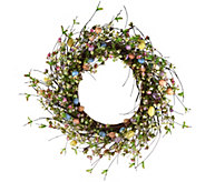 20 Egg and Wildflower Wreath by Valerie - H207934