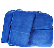 Malden Mills Polar Fleece Solid Twin Sheet Set - H209334