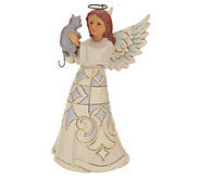Jim Shore Woodland Collection Angel with Cat Figurine - H214534