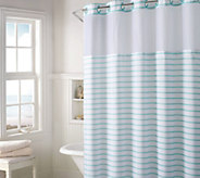 Hookless Charleston Stripe Shower Curtain with Built- In Liner - H214834