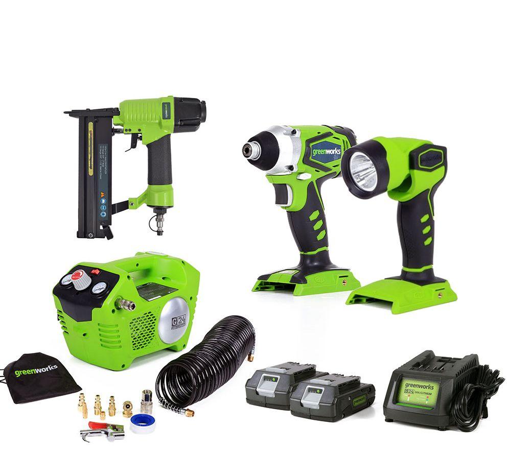 Greenworks G24 24V Compressor Combo Kit — QVC.com