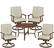 Key West 5-Pc Outdoor Dining Table & 4 Swivel Rocking Chairs - H291834