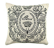 Vintage House Paris Postage 18 x 18 Tapestry Pillow - H356734