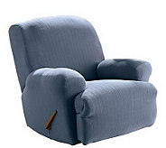 Sure Fit Stretch Pinstripe Recliner Slipcover - H149835
