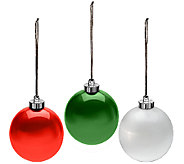 Kringle Express Set of 3 Pearlized 6 Ornament Spheres - H203235