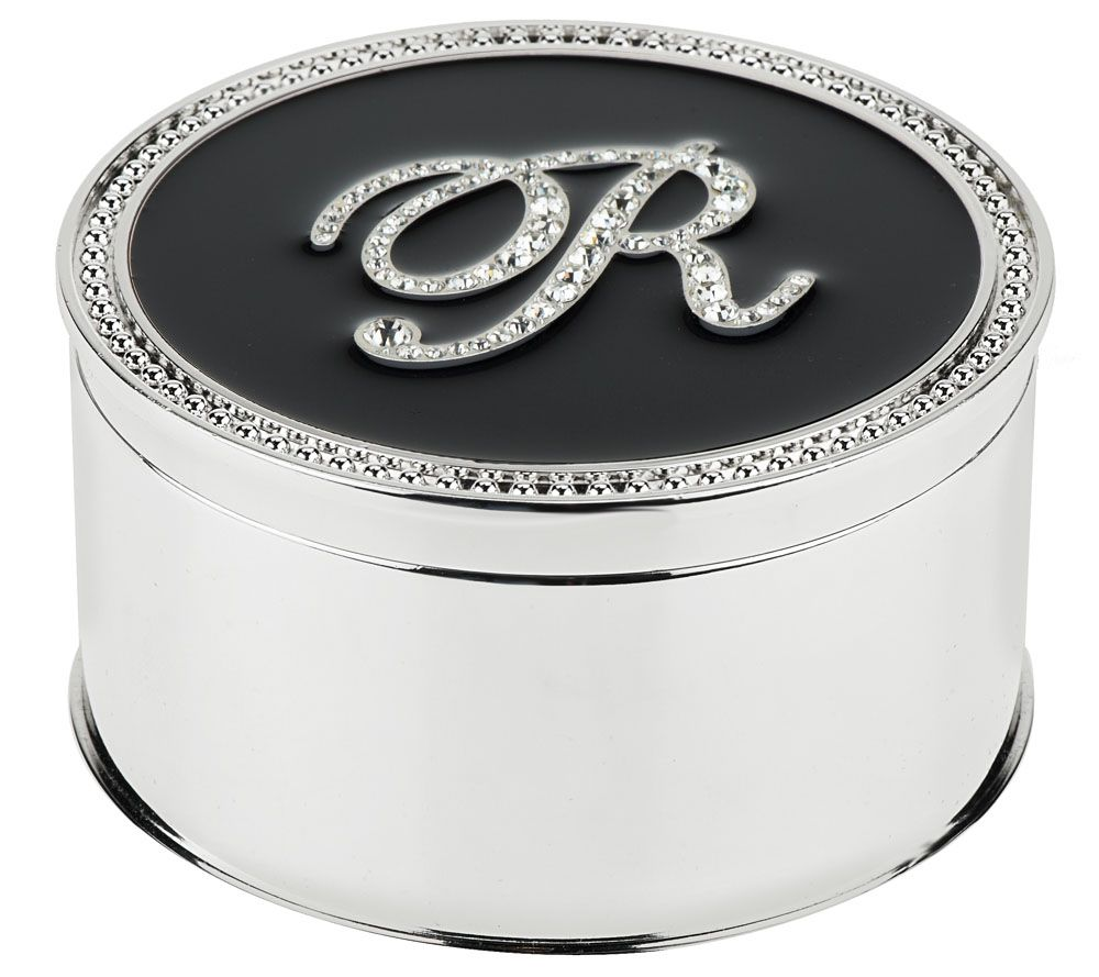 Safekeeper Crystal Initial Jewelry Box by Lori Greiner Page 1
