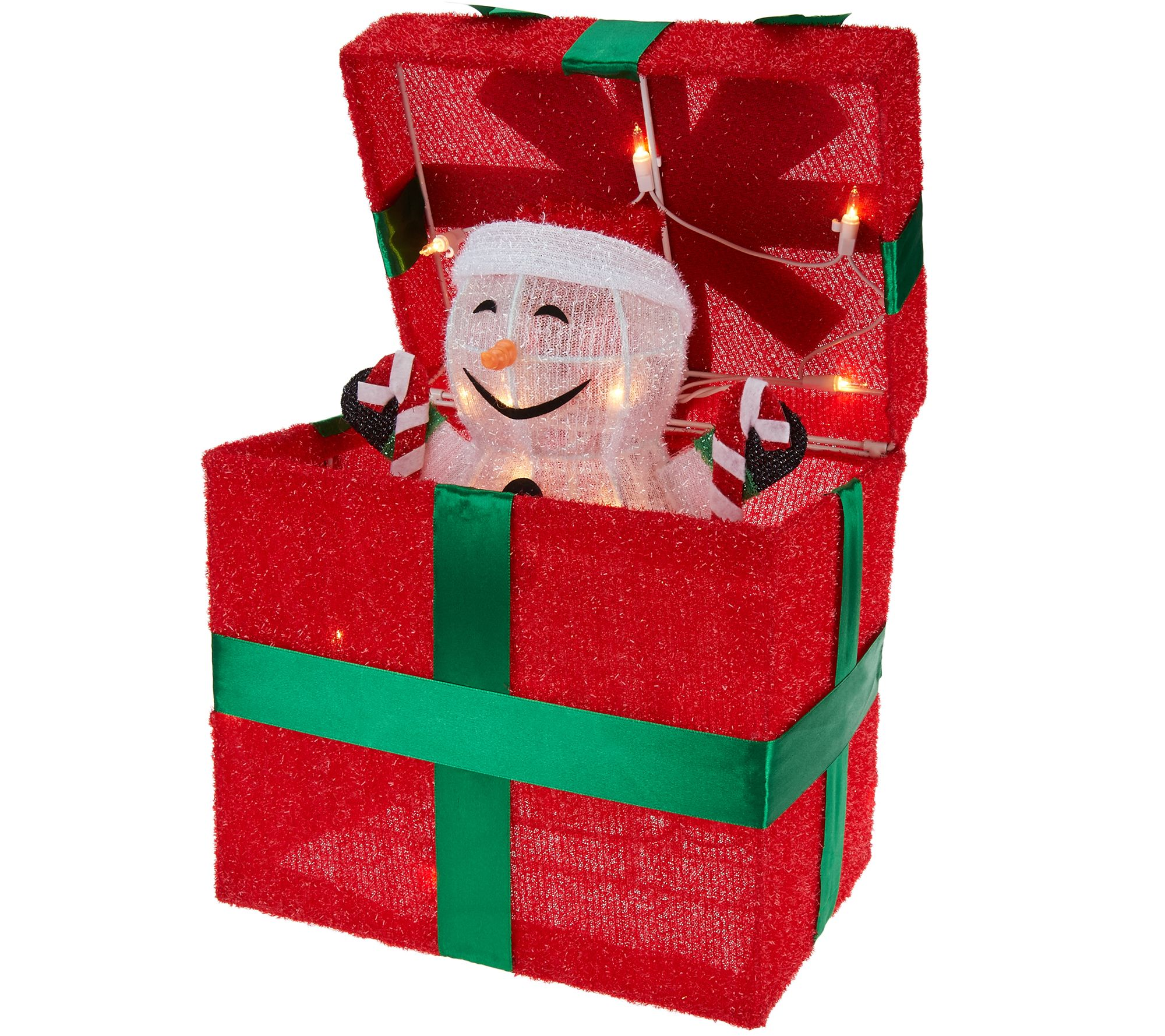 Qvc Outdoor Wall Lights: Kringle Express Outdoor Gift Box With Animated Character