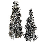 ED On Air Set of 2 Metal Floral Trees by Ellen DeGeneres - H207135