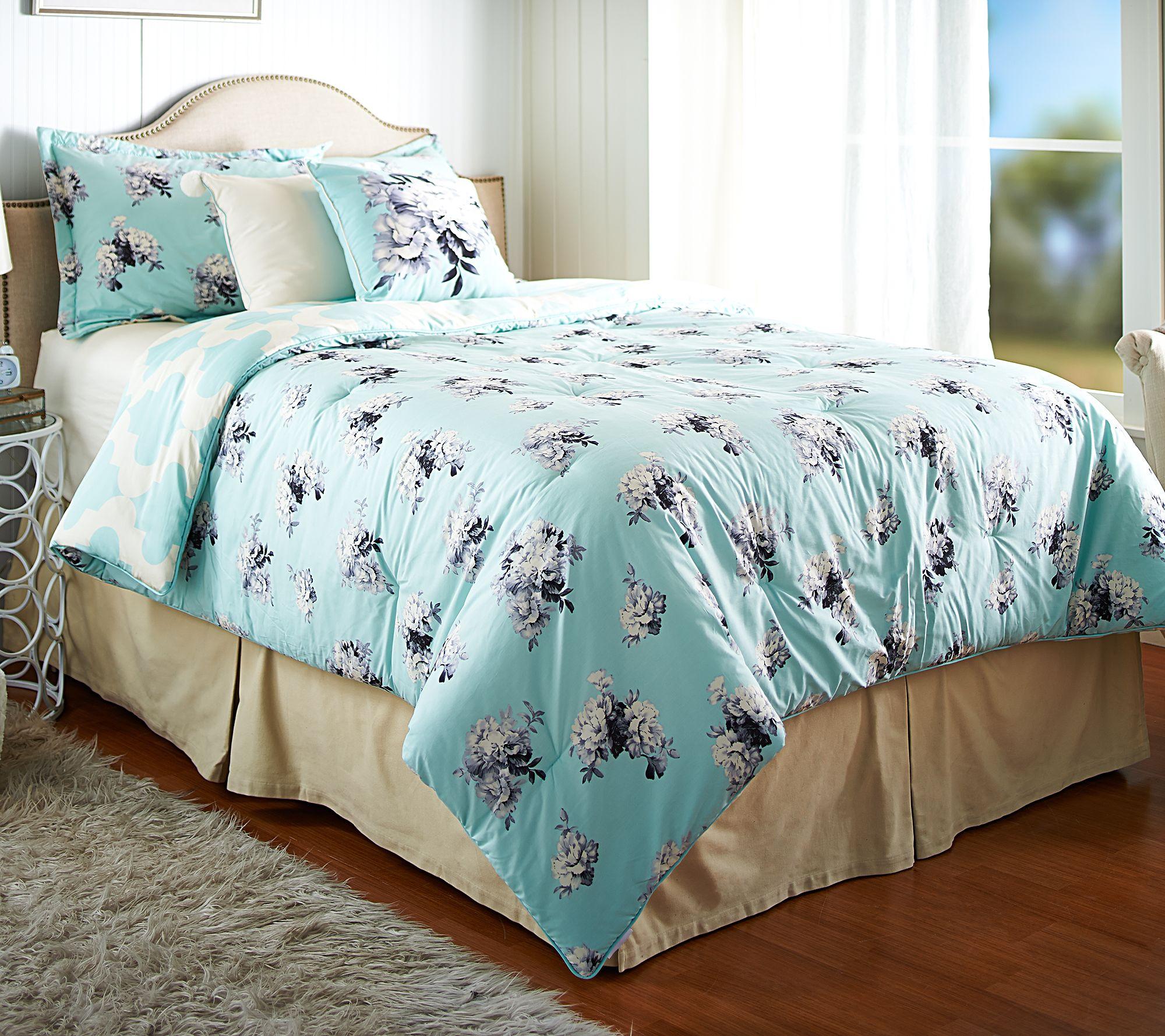 Home 5pc Garden Trellis King Comforter Set   Page 1 U2014 QVC.com