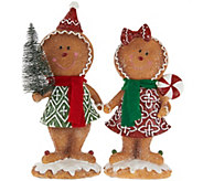 2-piece Gingerbread Boy & Girl by Valerie - H208735