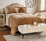 London Fog Baby Velvet Reverse to Ivory Fur King Comforter Set - H212935
