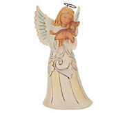 Jim Shore Woodland Collection Angel with Dog Figurine - H214535