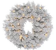 36 Flocked Alaskan Wreath  by Vickerman - H286435