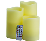 Pacific Accents Set of 3 Mood Candles with Remote - H286535