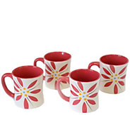 Temp-tations Old World Vivid Set of 4 Mugs - H288335