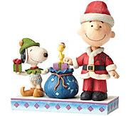Jim Shore Santa Charlie Brown & Snoopy - H289935