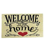 Northlight Welcome to Our Home Door Mat 30 x 18 - H293635