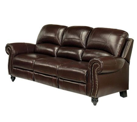 Abbyson living cambridge leather pushback reclining sofa for Abbyson living sedona leather chaise recliner