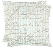 Safavieh Set of 2 18x18 Camilla French Laundry Pillows - H360635