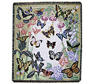 Butterflies are Free Cotton Throw by Simply Home - H133136