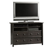 Sauder Edge Water Collection Highboy TV Stand -Estate Black - H182636