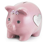 Things Remembered Pink Ceramic Piggy Bank - H186336