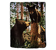 Luxe Velour Oversized 60x80 Animal Photo Cozy Throw - H198236