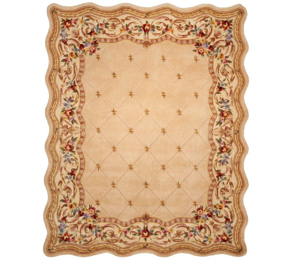 Royal Palace Fleur De Lis Scallop 8' x 10' Wool Rug - Page ...