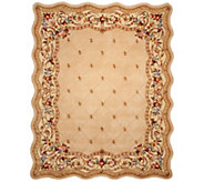 Royal Palace Fleur De Lis Scallop 8 x 10 Wool Rug - H202336
