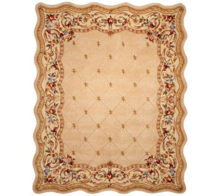 Royal Palace Fleur De Lis Scallop 8 X 10 Wool Rug