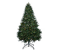 As Is Santas Best 5 Upswept Fraser Fir w/ EZ Power & Tri-Function - H204236