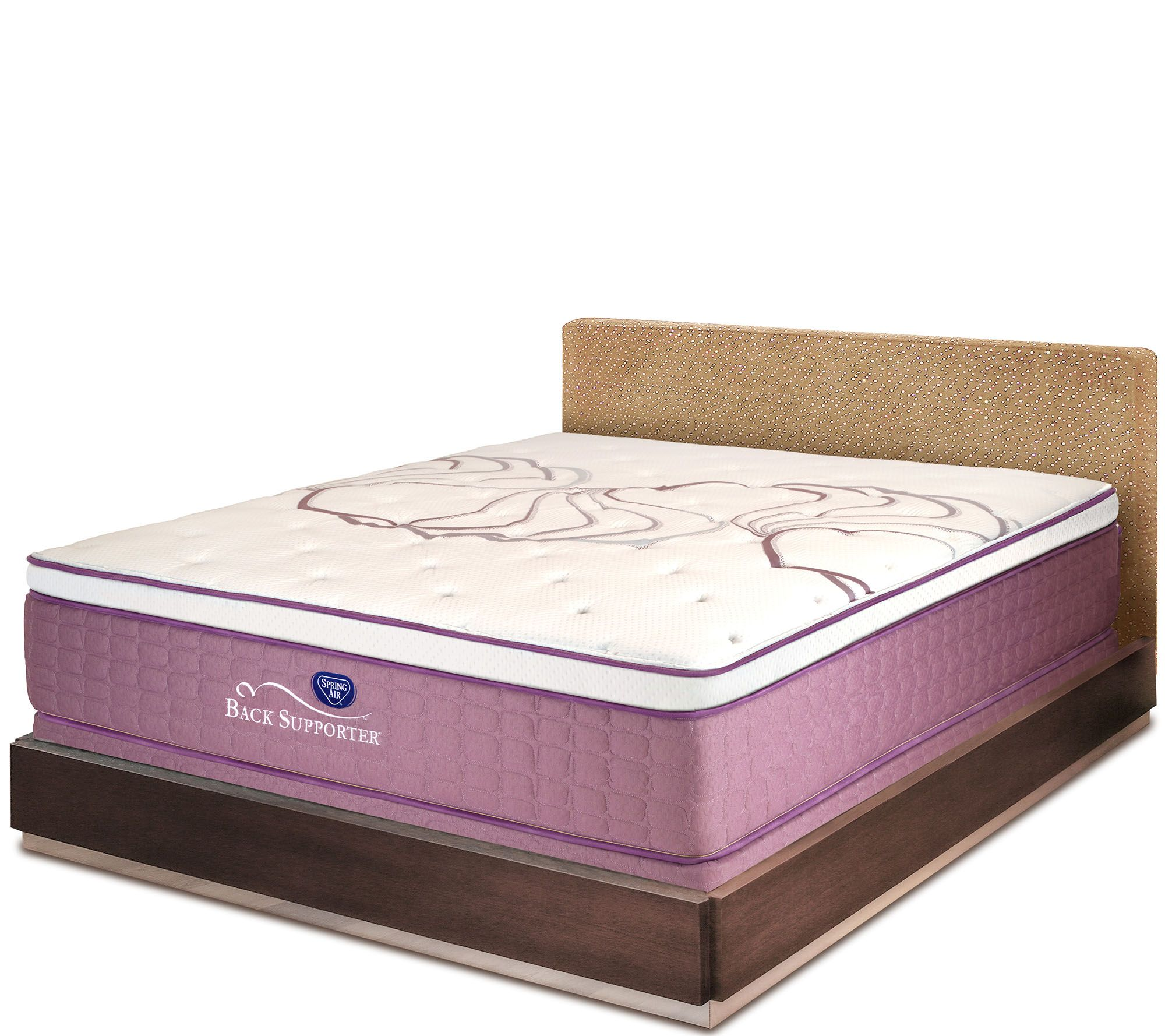 Spring air sleep sense 15 5 luxury firm queen mattress for Spring air mattress