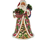 Jim Shore Heartwood Creek Festive Pinecone Santa Figurine - H211936