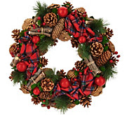 15.5 Woodland Plaid Wreath by Valerie - H212436
