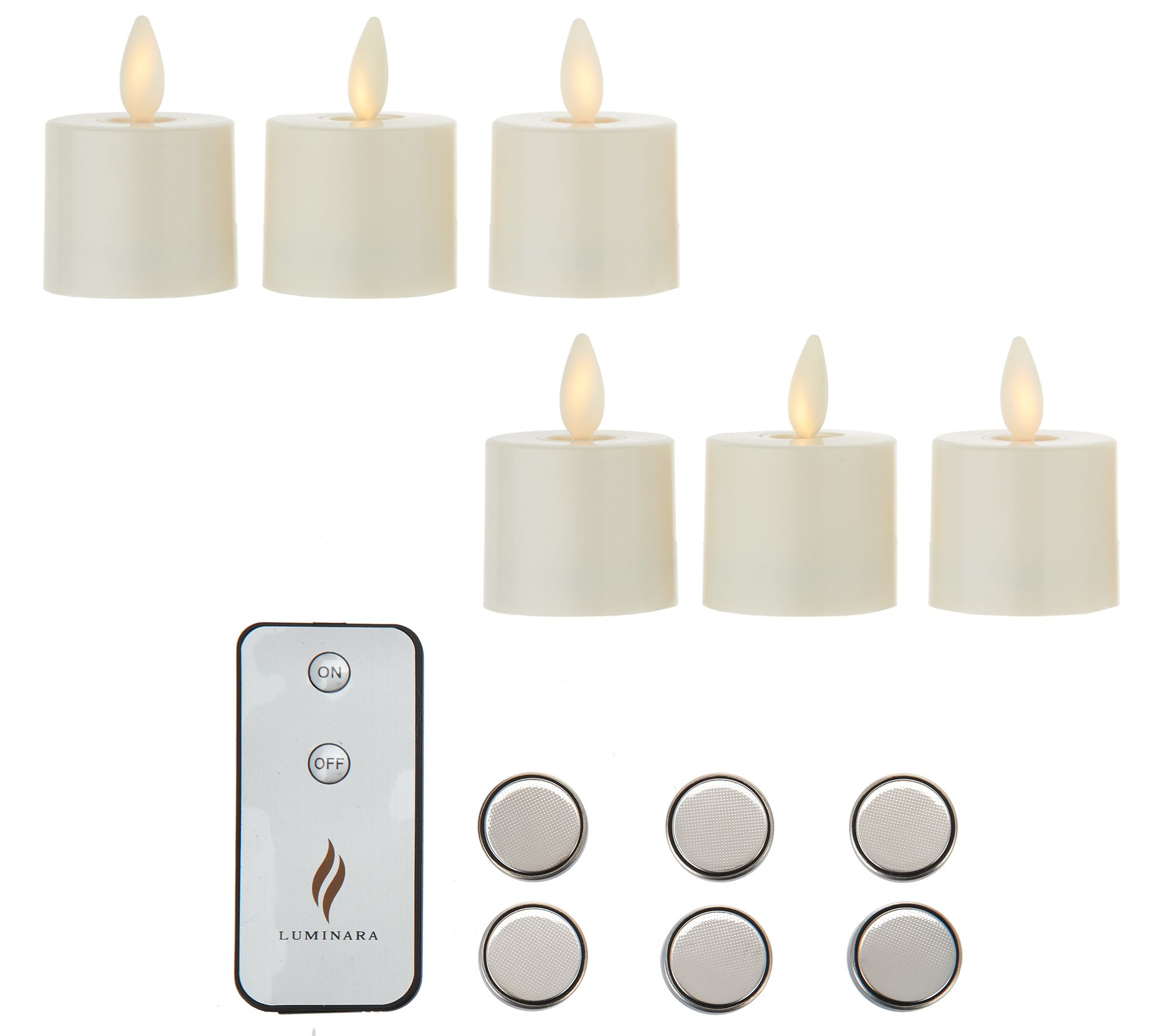 Luminara Set of 6 Tealights with Additional Batteries - Page 1  QVC.com