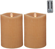 Bethlehem Lights Set of 2 5 Moving Flame Touch Candle w/Remote - H213936