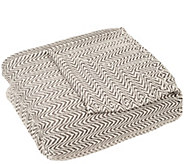 Lavish Home Chevron 100Egyptian Cotton Full/Queen Blanket - H288936